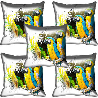 meSleep Parrot Digital Printed Cushion Cover 20x20