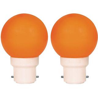 0.5W LED Bulb Orange Pack Of 2 Night Bulb