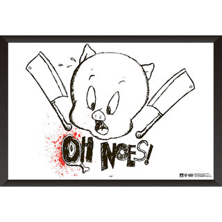 Hungover Porky Pig The Looney Tunes Show Special Paper Poster (12x18 Inches)