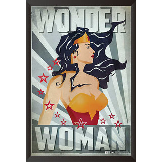 Hungover Wonder Woman Comic Artwork Special Paper Poster (12x18 Inches)