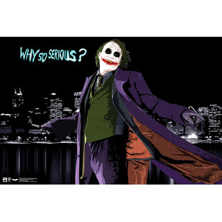 Hungover Heath Ledger Why So Serious Special Paper Poster (12x18 Inches)