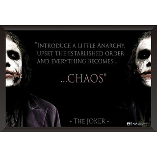 Hungover Joker Heath Ledger Quote Special Paper Poster (12x18 Inches)
