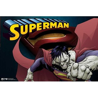 Hungover Superman Comic Series Special Paper Poster (12x18 Inches)