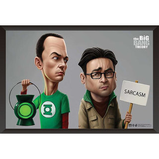 Hungover The Big Bang Theory Sheldon And Raj Comic Art Special Paper Poster (12x18 Inches)