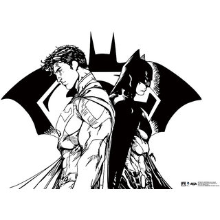 Hungover Batman Vs Superman Comic Poster Official Artwork Special Paper Poster (12x18 Inches)