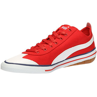 buy puma men's red laceup casual shoes online  ₹1649