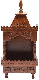 Shilpi Brown Sheesham Wood Exquisite Temple / Mandir / Puja Esstential / Wooden Mandir