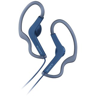 Sony MDR-AS210 Splash-Proof Open-Ear Active Sports Earphones (Blue)