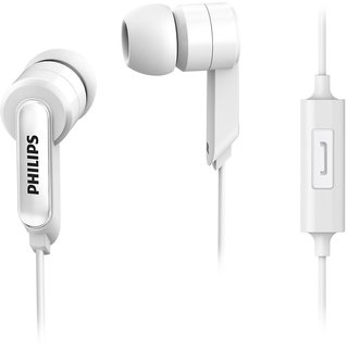 Philips SHE1405BK/94 In-Ear Headphones With Mic - White
