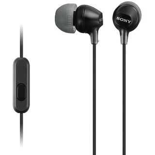 Sony MDR-EX15AP Stereo Earphones with Mic (Black)