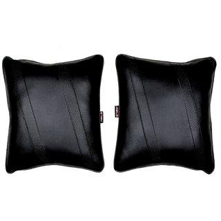 Able Classic Cross Cushion Seat Cushion Cushion Pillow Black For DATSUN DATSUN-GO Set of 2 Pcs