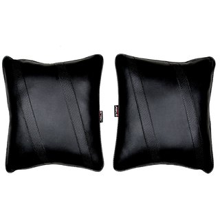 Able Classic Cross Cushion Seat Cushion Cushion Pillow Black For DATSUN DATSUN-GO+ Set of 2 Pcs