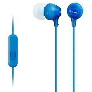 Sony MDR-EX15AP Stereo Earphones with Mic (Blue)