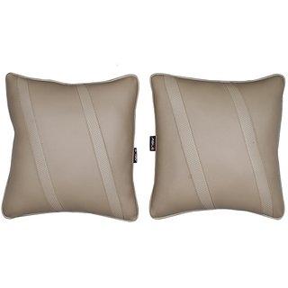 Able Classic Cross Cushion Seat Cushion Cushion Pillow Beige For MARUTI OMNI Set of 2 Pcs