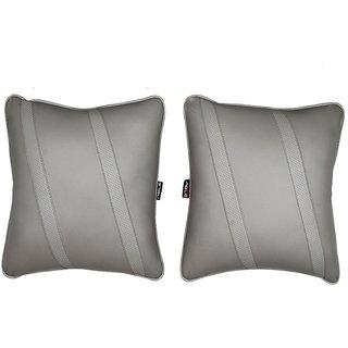 Able Classic Cross Cushion Seat Cushion Cushion Pillow I-Grey For DATSUN DATSUN-GO Set of 2 Pcs