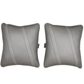 Able Classic Cross Cushion Seat Cushion Cushion Pillow I-Grey For DATSUN DATSUN-GO+ Set of 2 Pcs