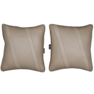 Able Classic Cross Cushion Seat Cushion Cushion Pillow Beige For SKODA OCTAVIA OLD Set of 2 Pcs