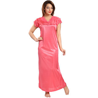 Buy Be You Fashion Women Serena Satin Gajri color Lace Night Gown ... f9d5a1f72