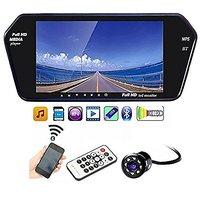 AutoStark 7 inch Car Video Monitor with USB, Bluetooth and Car Reaview Camera Hyundai Santro