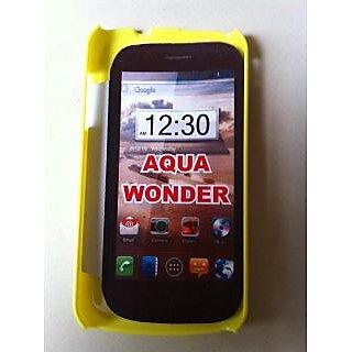 Intex Aqua Wonder Mobile Yellow Color Hard Plastic Back Cover Case