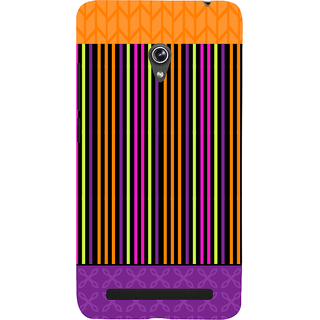 Snapdilla Multi Color Stripes Pattern Multi Best Girly Pretty Simple Designer Case For Asus Zenfone 6 A600CG