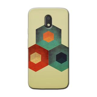 THE HEXAGONAL SIDES BACK COVER FOR MOTOROLA MOTO E3 POWER