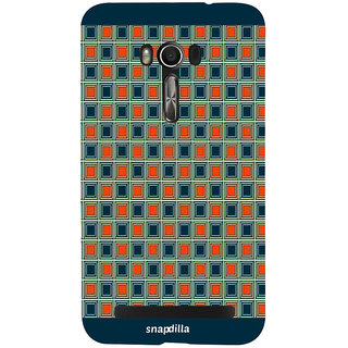 Snapdilla Modern Checkered Pattern Stylish Cool Looking Awesome Cell Cover For Asus Zenfone Go ZC500TG