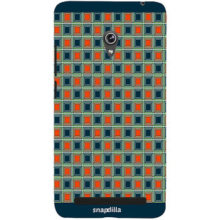 Snapdilla Modern Checkered Pattern Stylish Cool Looking Awesome Cell Cover For Asus Zenfone 6 A600CG