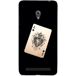 Snapdilla Funky Crazy Vintage Playing Card  Modern Deck Black Color Back Cover For Asus Zenfone 6 A600CG