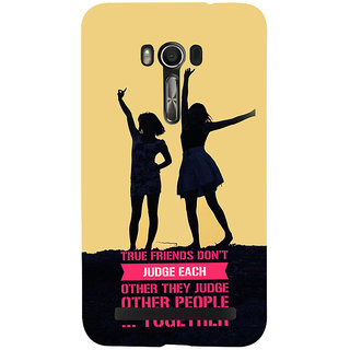 Snapdilla Yellow Color Background Funny Friendship Day Gift Quote Back Cover For Asus Zenfone Go ZC500TG