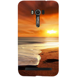 Snapdilla Colorful Beach Side Beautiful Sunset Scenery Hd Print Back Cover For Asus Zenfone Go ZC500TG