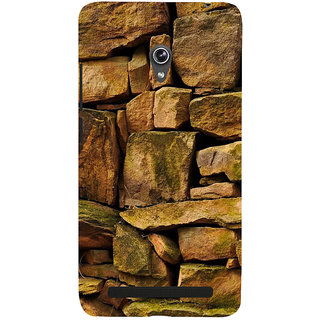 Snapdilla Different Creative Stone Pattern Rock Wall Art Ancient Fort Back Cover For Asus Zenfone 6 A600CG