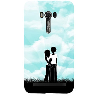 Snapdilla Sky Blue Backround Unique Black  White Best Lovers Couple Gift For Girlfriend Cell Cover For Asus Zenfone Go ZC500TG