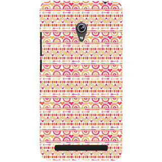 Snapdilla White Color Background Pretty Looking Unique Love Pattern Mobile Cover For Asus Zenfone 6 A600CG