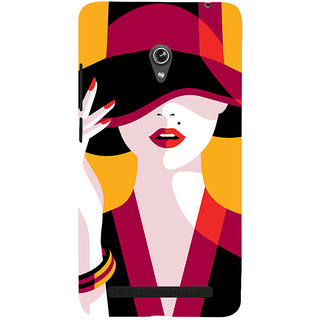Snapdilla Yellow Background Good Looking Hot Sexy Girl Painting Mobile Case For Asus Zenfone 6 A600CG
