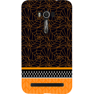 Snapdilla Black Background Cool Unique Spider Web Pattern Cool Mobile Pouch For Asus Zenfone Go ZC500TG
