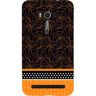 Snapdilla Black Background Cool Unique Spider Web Pattern Cool Mobile Pouch For Asus Zenfone Go ZC500TG