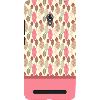 Snapdilla Perfect Stylish Dry Leaves Pattern Pink Color Lovely Smartphone Case For Asus Zenfone 6 A600CG
