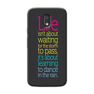 TYPO LIFE QUOTES  BACK COVER FOR MOTOROLA MOTO E3 POWER