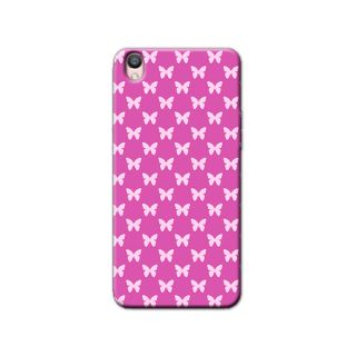 PINK BUTTERFLIES  BACK COVER FOR OPPO F1 PLUS