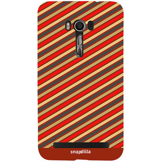 Snapdilla Colorful Stripes Pattern Cool Looking Awesome Stylish Back Cover For Asus Zenfone Go ZC500TG