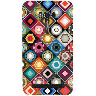 Snapdilla Different Colour Multi Shaped Simple Girly Good Looking Mobile Cover For Asus Zenfone Go ZC500TG