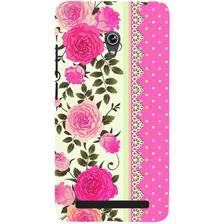 Snapdilla Simple Good Looking Cool Pink Lovely Roses Superb 3D Print Cover For Asus Zenfone 6 A600CG
