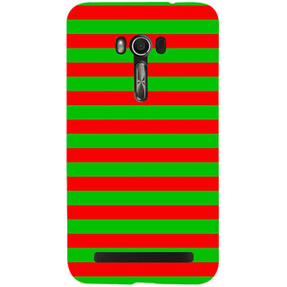 Snapdilla Modern Pattern Red Green Stripes Awesome Perfect Colorful Mobile Pouch For Asus Zenfone Go ZC500TG