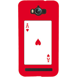 Snapdilla Funky Crazy Red Background Ace Playing Card Modern Deck Mobile Cover For Asus Zenfone Max ZC550KL :: Asus Zenfone Max ZC550KL 2016 :: Asus Zenfone Max ZC550KL 6A076IN
