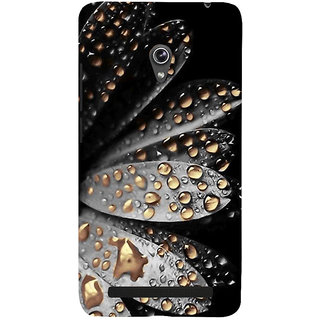 Snapdilla Black Background Attractive Artistic Floral Golden Water Flower Drops Mobile Case For Asus Zenfone 6 A600CG