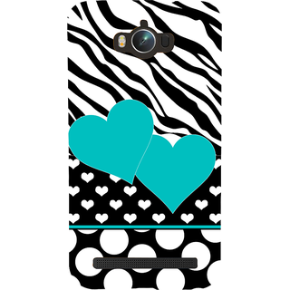 Snapdilla Black And White Stripes Pattern Heart Shaped Trendy Superb Amazing Back Cover For Asus Zenfone Max ZC550KL :: Asus Zenfone Max ZC550KL 2016 :: Asus Zenfone Max ZC550KL 6A076IN