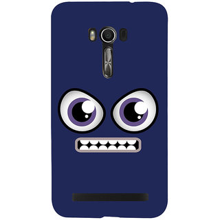 Snapdilla Funky Clip Art Blue Background Funny Face Creative Animated Design Mobile Case For Asus Zenfone Go ZC500TG
