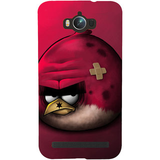 Snapdilla Creative Red Background Animated Angry Bird Simple Crazy Mobile Cover For Asus Zenfone Max ZC550KL :: Asus Zenfone Max ZC550KL 2016 :: Asus Zenfone Max ZC550KL 6A076IN