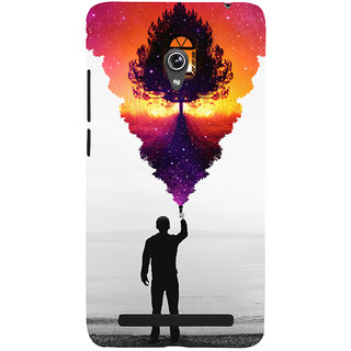 Snapdilla Black And White Background Colorful Animated Monochrome Mobile Pouch For Asus Zenfone 6 A600CG
